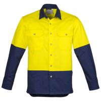 Mens Hi Vis Spliced Industrial Shirt Thumbnail