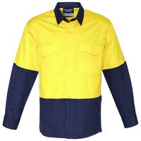 Mens Rugged Cooling Hi Vis Spliced Shirt Thumbnail