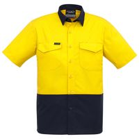 Mens Rugged Cooling Hi Vis Spliced S/S Shirt Thumbnail