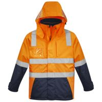 Mens Hi Vis 4 in 1 Waterproof Jacket Thumbnail