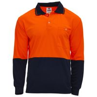 Unisex Hi Vis Polo - Long Sleeve Thumbnail