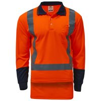 Unisex Hi Vis Day/Night Polo - Long Sleeve Thumbnail