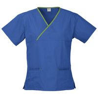 Ladies Contrast Crossover Scrubs Top Thumbnail